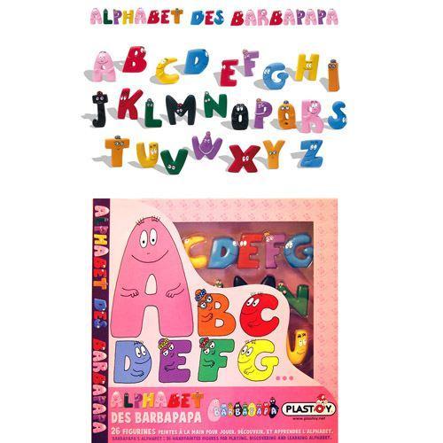 Jeu éducatif Plastoy L'Alphabet des Barbapapa