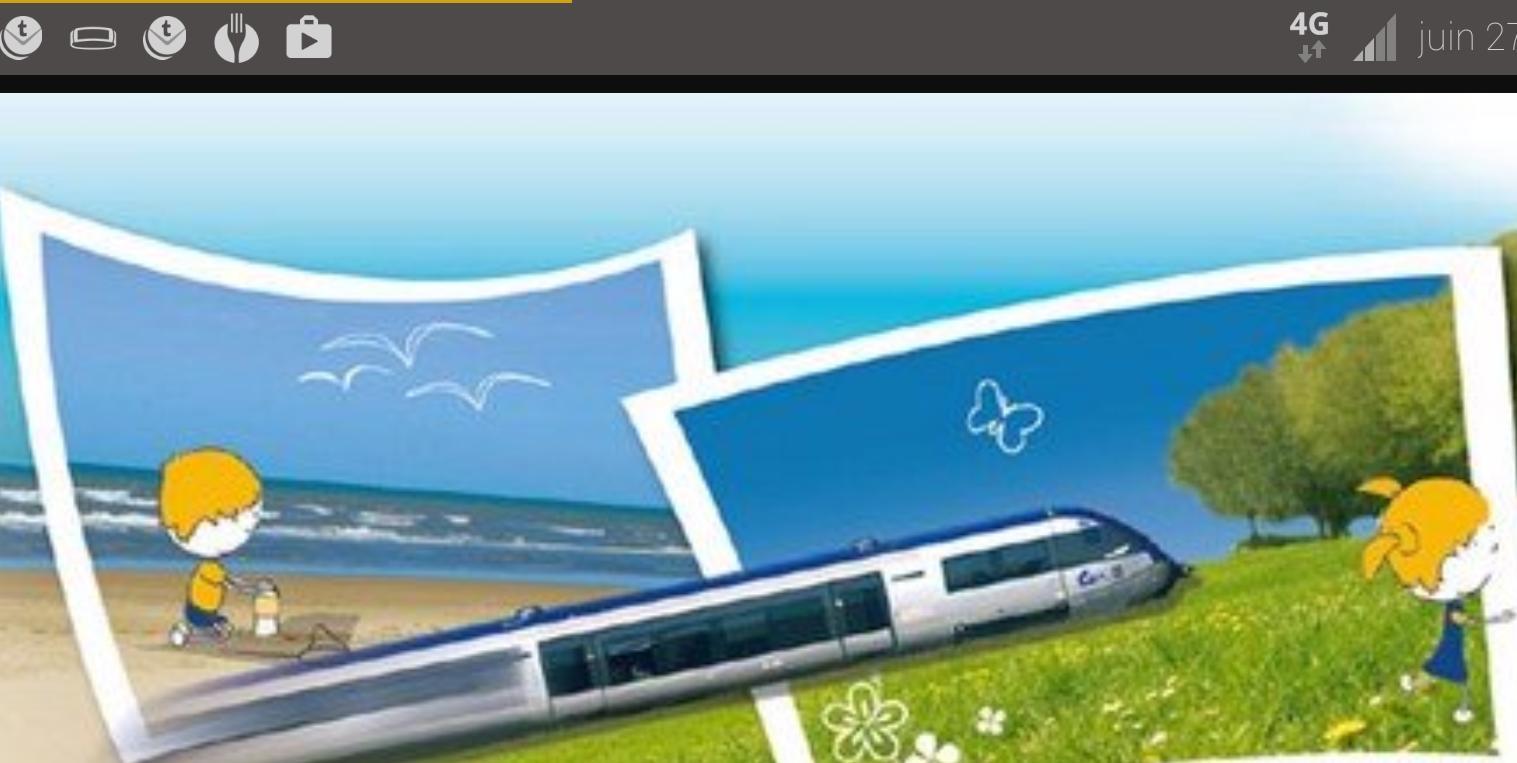Trajet TER Aller/Retour vers les destinations du Littoral Nordiste