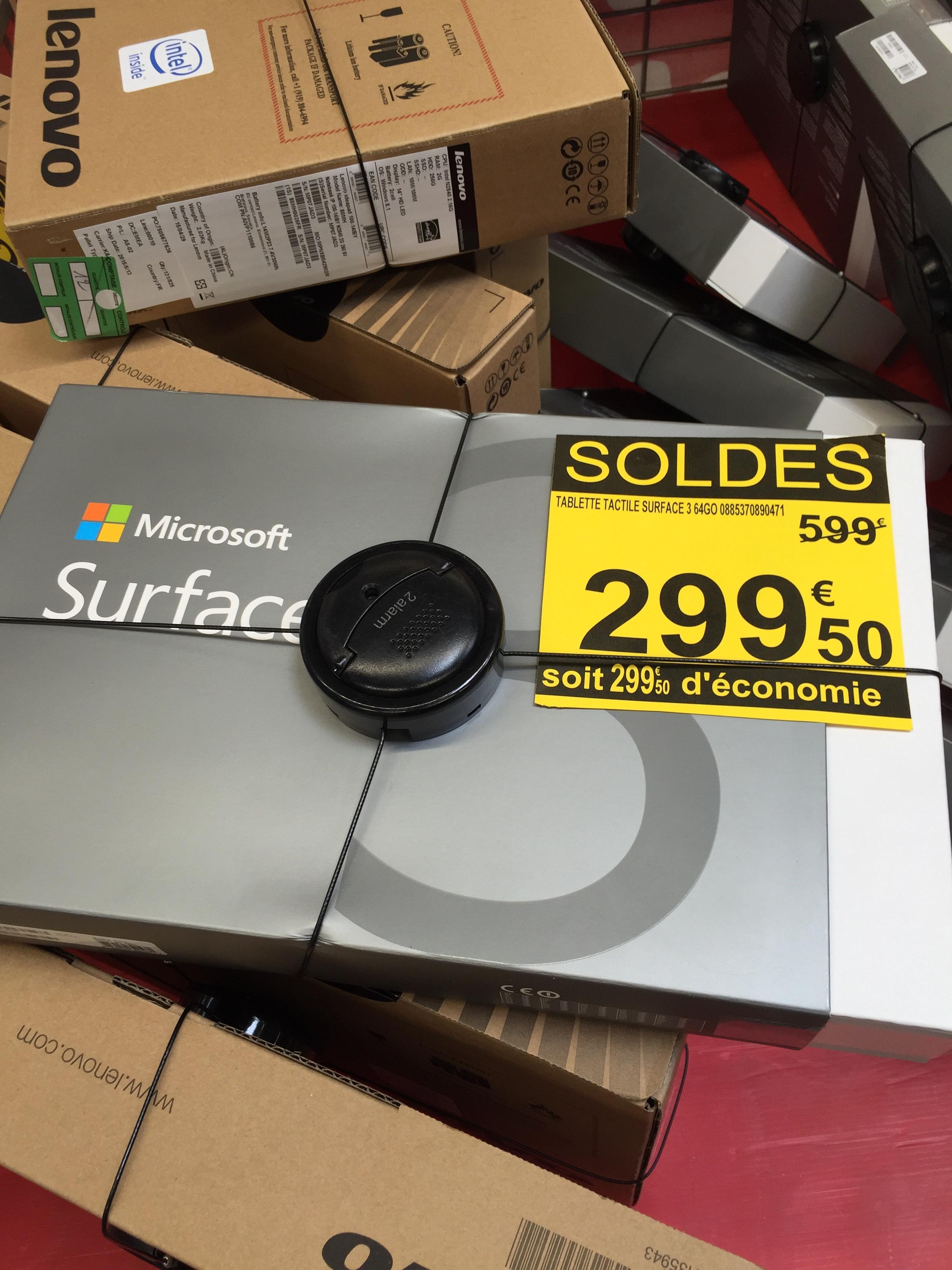 "Tablette 10.8"" Microsoft Surface 3 - 2 Go de Ram,  64 Go"