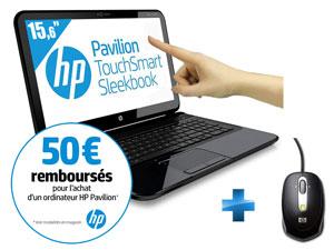HP  Pavilion TouchSmart 15-B153EF Sleekbook Tactile - ODR Comprise (-50€)