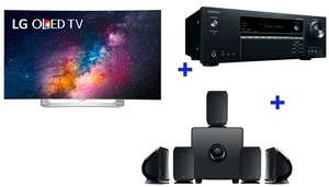 "Pack TV 55"" incurvé LG 55EG910V - OLED  + Amplificateur 7.1 Onkyo  TXSR444  + Pack d'enceintes Focal  Sib and Cub3 5.1 Jet Black (via ODR 200€)"