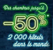 Chambres jusqu'à -50% dans plus de 2000 hôtels Accor dans le monde