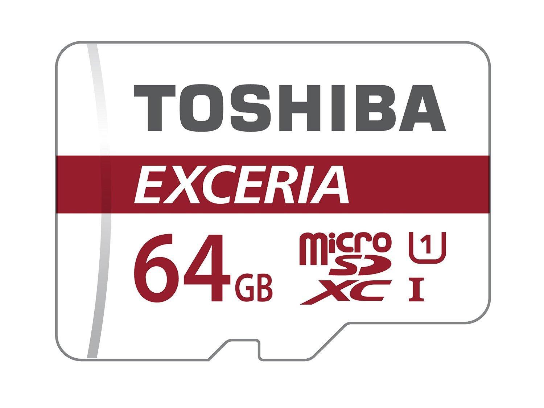 Carte microSDXC Toshiba Exceria Classe 10 - 64 Go avec adaptateur (+ jusqu'à 2€ en Super Points)
