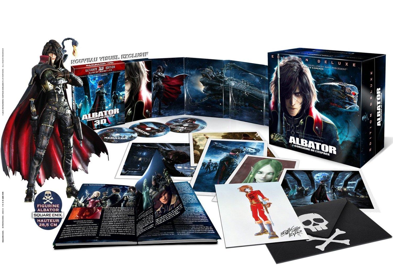Sélection de Coffrets Blu-ray en promotion - Ex: Coffret Blu-ray Albator Edition limitée (Figurine & goodies - Blu-ray 3D + Blu-ray + DVD)