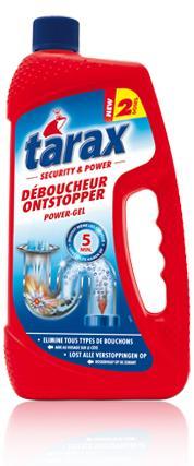 Lot de 3 produits Tarax en promotion (via Shopmium) - Ex : 3 gel déboucheurs Canalisations (1 L)