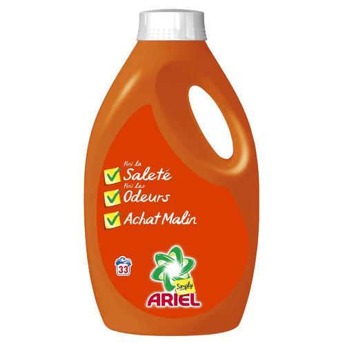 Lessive Ariel Liquide 33 lavages (via BDR)