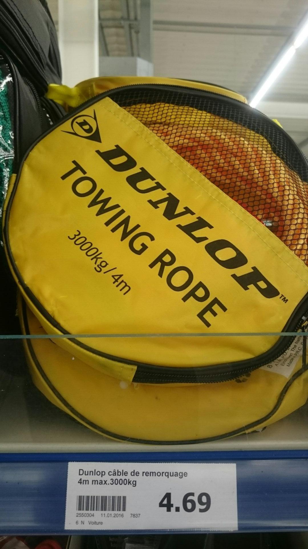 Câble de remorquage Dunlop 4m 3000kg
