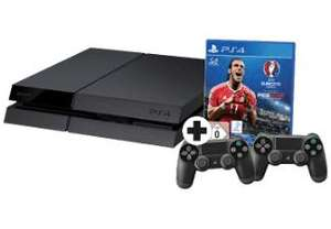 Pack console Sony PS4 (500 go) + 2ème manette + UEFA Euro 2016