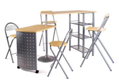Table + 4 Tabourets Compact Hetre (opération déstockage)