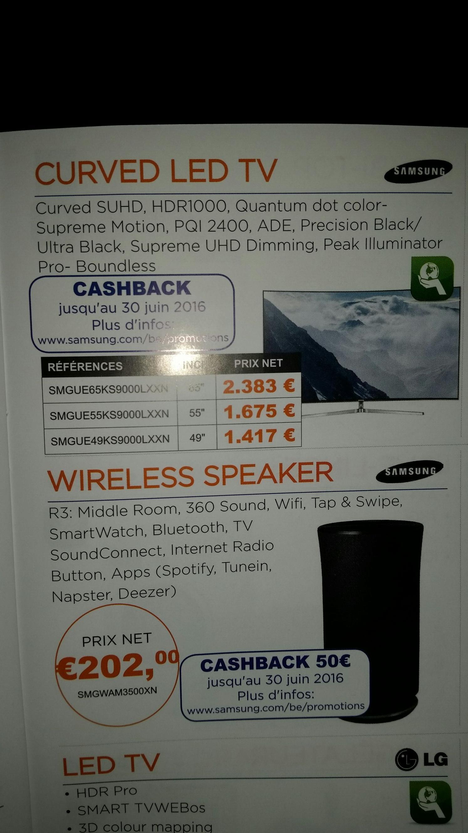 """TV incurvée 55"""" Samsung UE55KS9000"""