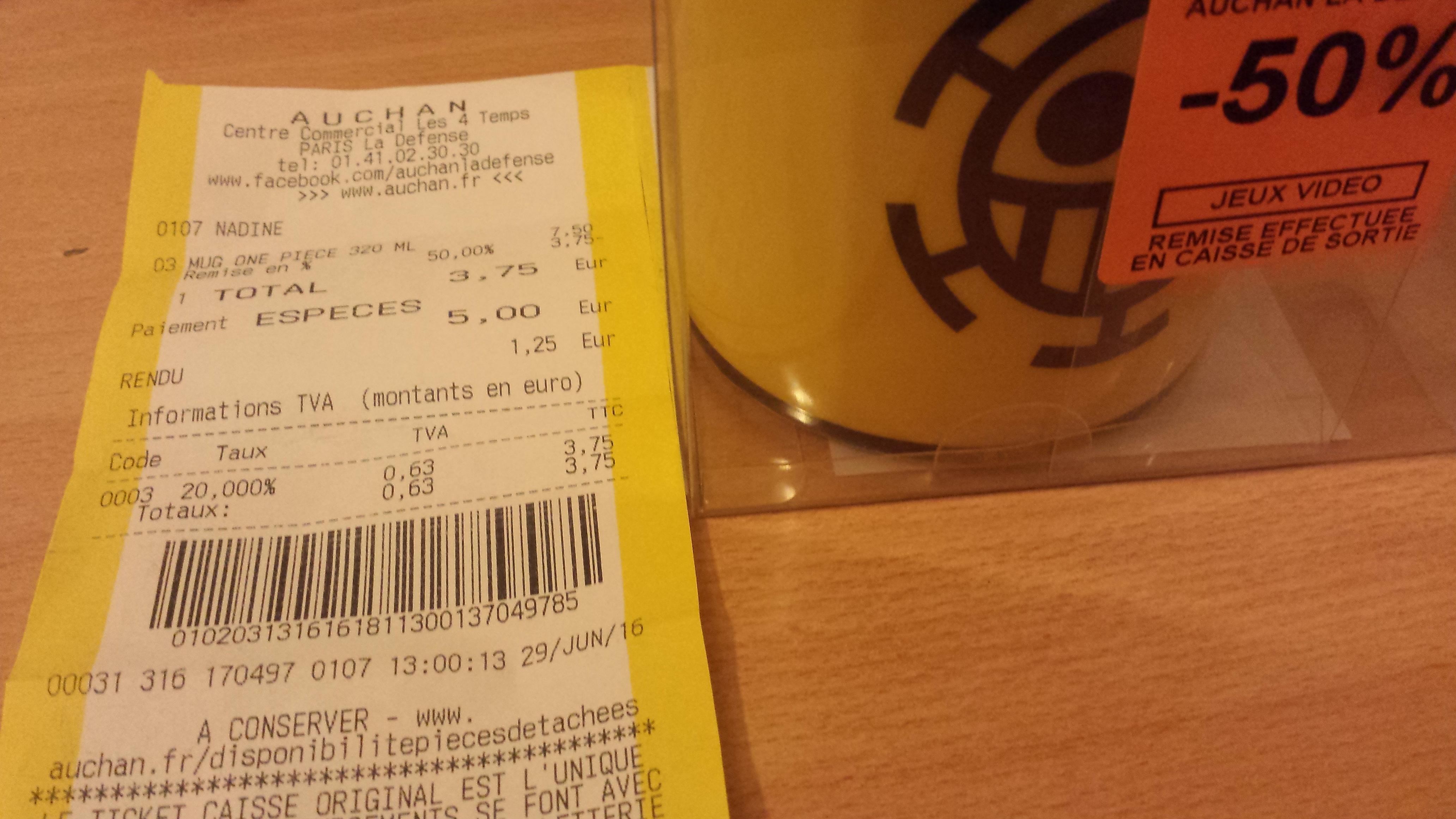 Sélection de mug One Piece en promotion - Ex : Mug One Piece - 320 ml