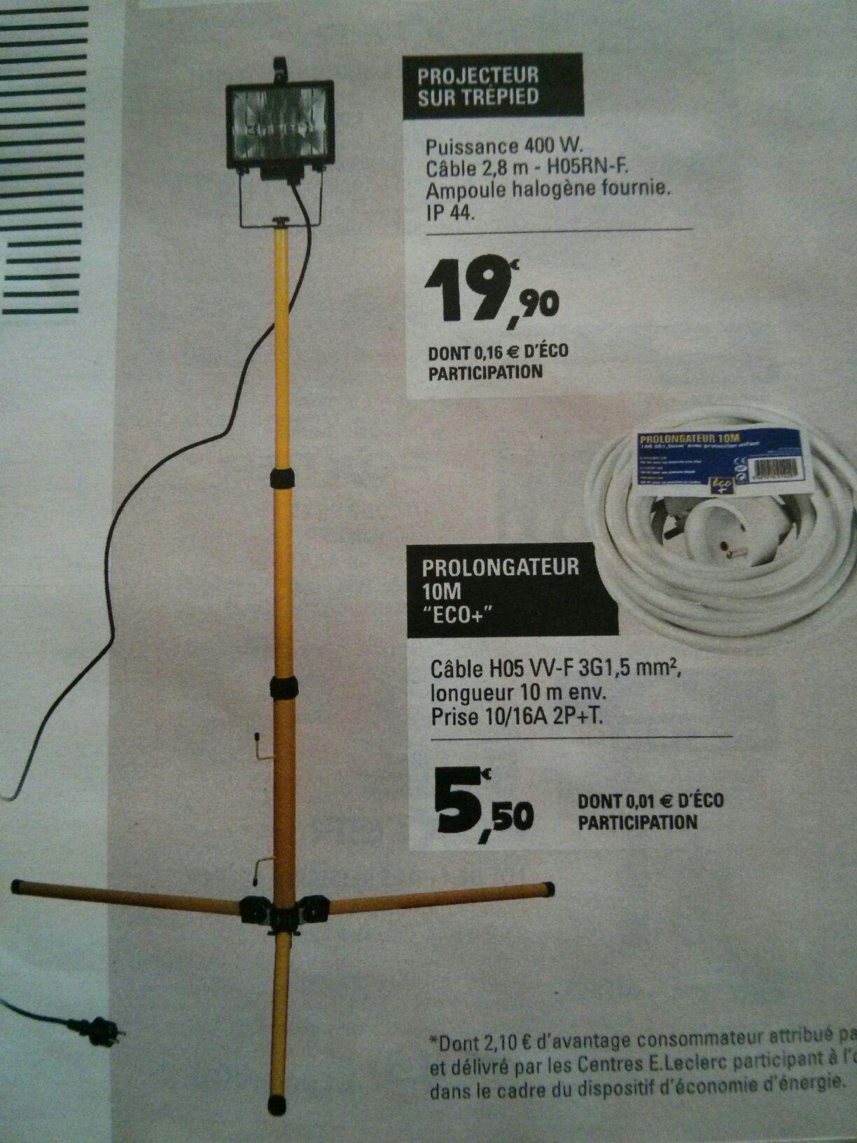 Projecteur sur trépied avec ampoule Halogène ip44 fournie - 400W