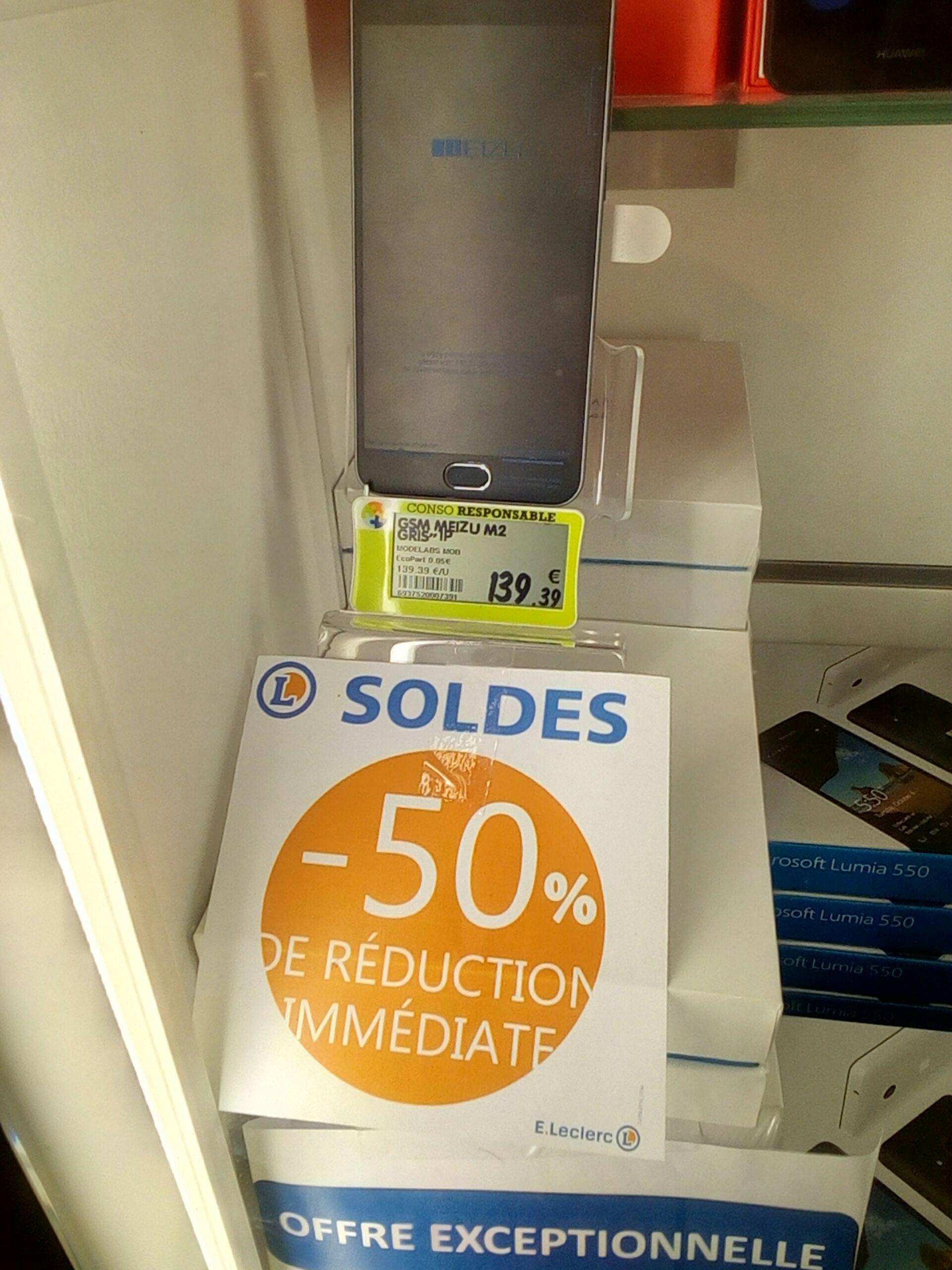 """Smartphone 5"""" Meizu M2 - Double SIM, RAM 2 Go, ROM 16 Go (via ODR de 30€)"""