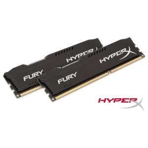 Kit mémoire RAM Kingston Hyperx Fury 16 Go (2 x 8 Go) - DDR3, 1866MHz, CL10