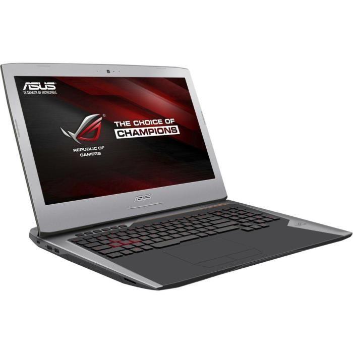 "PC Portable Gamer 17.3"" Asus Rog G752VY-GB093T Gris Métal - 4K, i7-6700HQ, RAM 32 Go, HDD 1 To + SSD 512 Go, GTX980M 8 Go"
