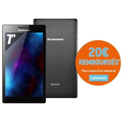 """Tablette 7"""" Lenovo IdeaTab 2 A7-10 - 8 Go (via ODR de 20€)"""