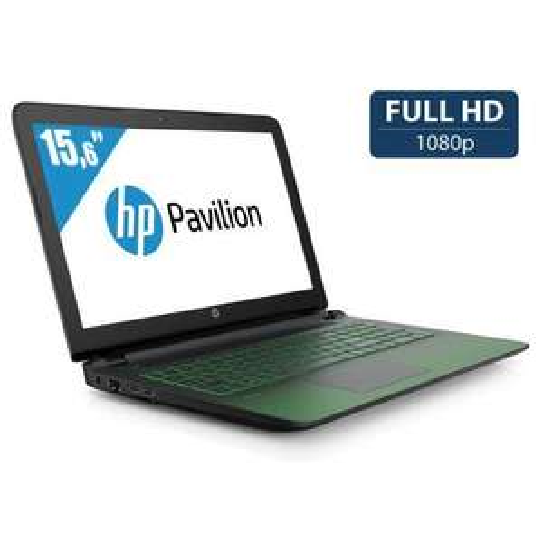 "PC Portable 15"" HP Pavilion Gaming 15-AK003NF - i7-6700HQ - Noir / Vert"