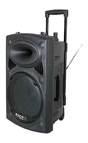 "Sonorisation portable 12"" Ibiza PORT12VHF-BT - USB / SD / AUX / MP3 / Bluetooth Noir"
