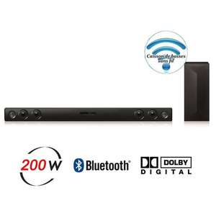 Barre de son LG 2.1  Bluetooth - 200W