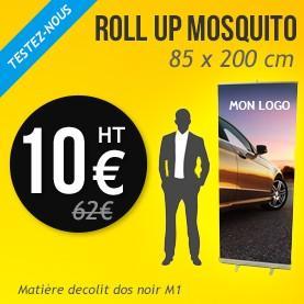 Sélection de produits à 10€ HT - Ex : Roll Up Mosquito (85 x 200 cm)