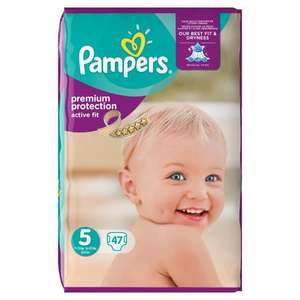 Pack de 47 couches Pampers Active Fit - Taille 5, 11 à 25 kg