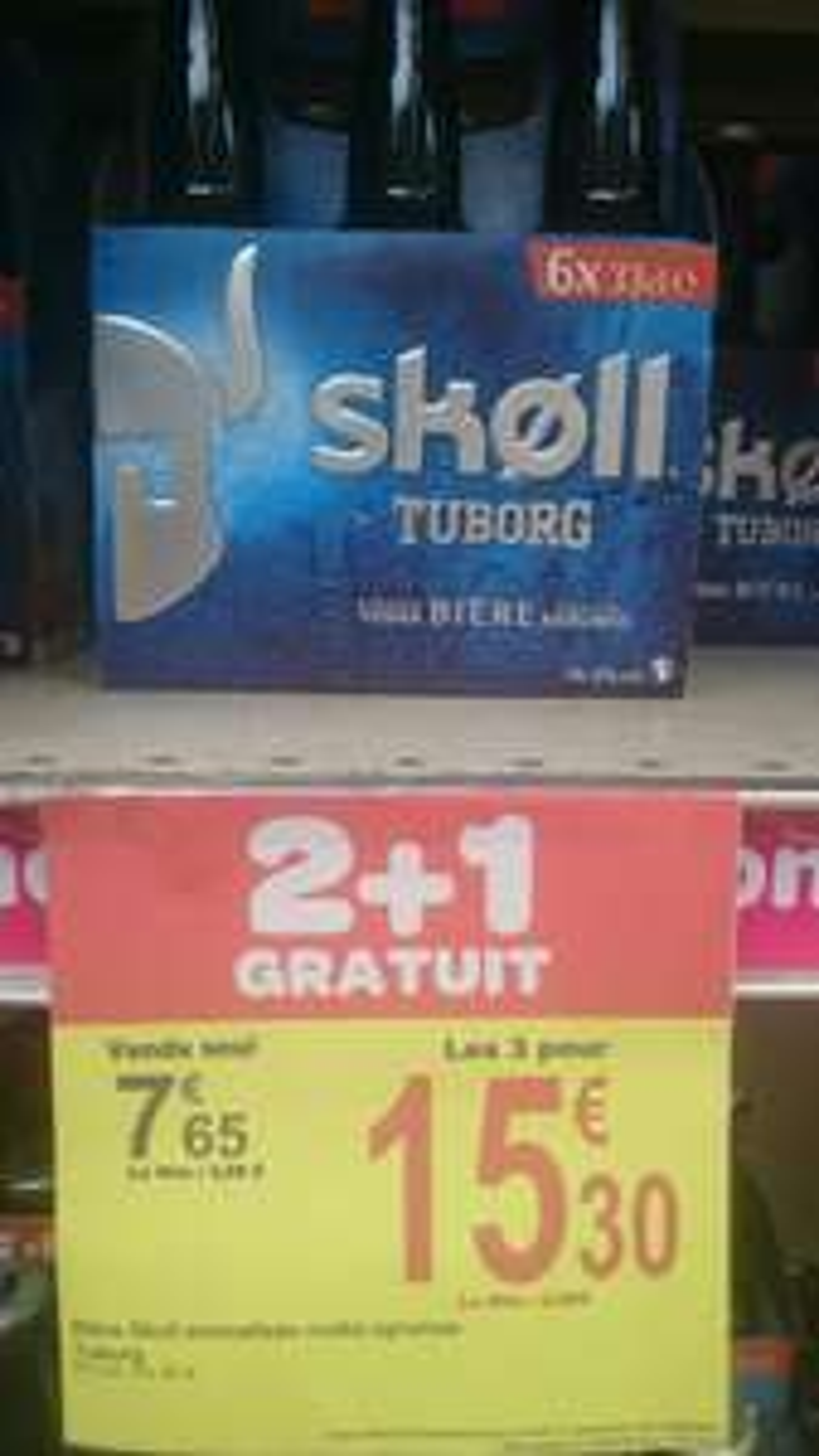 3 packs de 6 bouteilles de Bière Skoll Tuborg