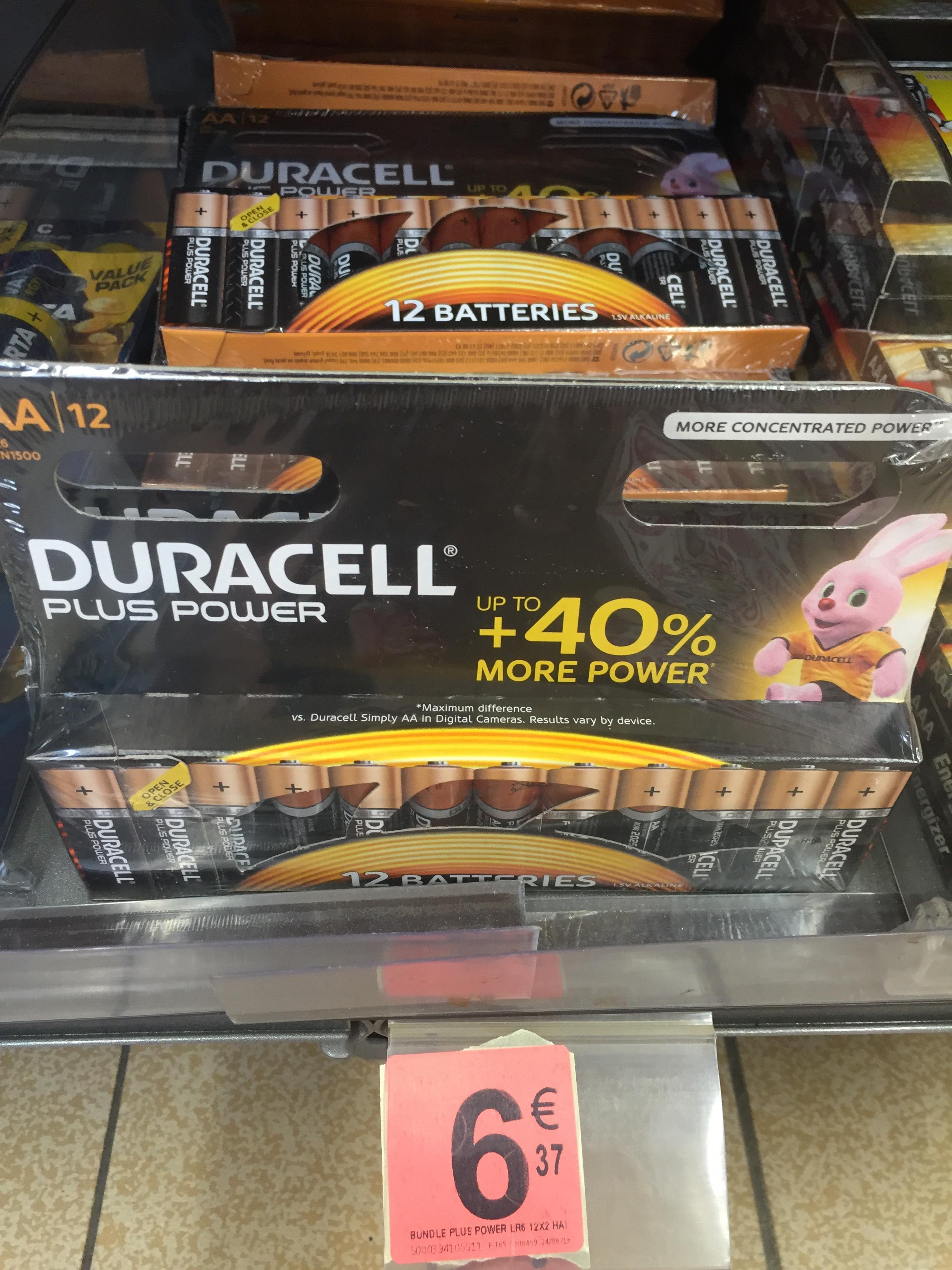 Lot de 24 piles Duracell Plus Power LR6 AA