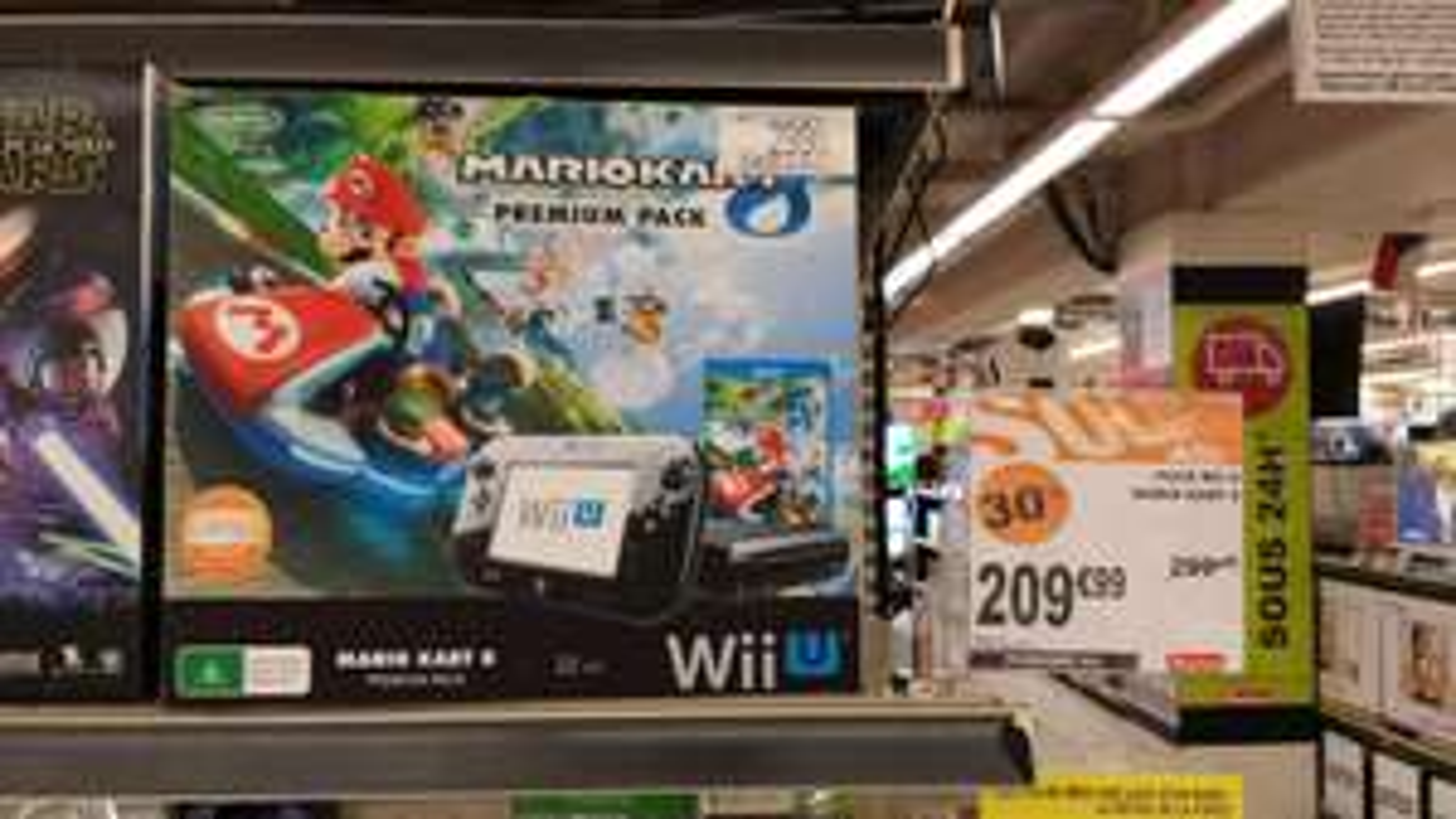 Console Wii U 32Go + Mariokart 8 Premium Pack