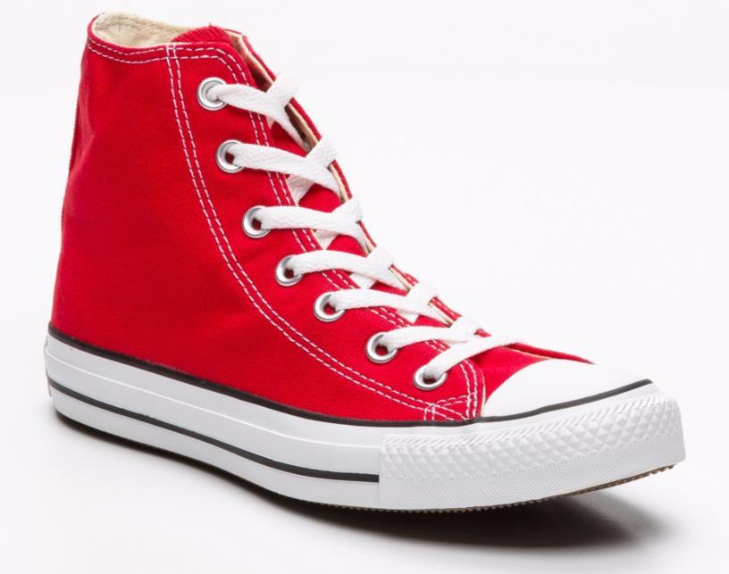 Sélection d'articles Converse en promotion - Ex : Chaussures adultes montantes Chuck Taylor Rouge