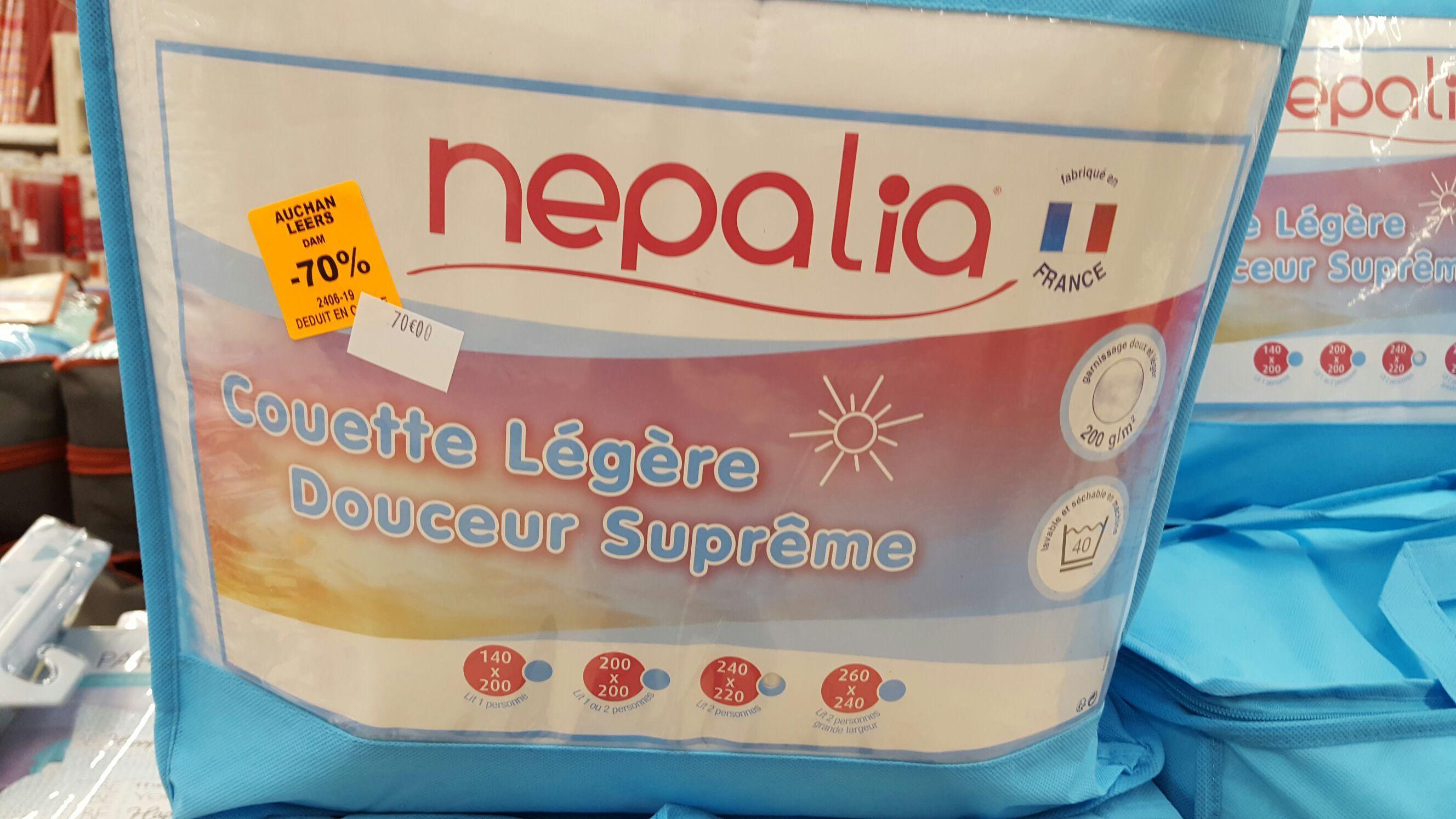 Couette Légère Nepalia Douceur Suprême - 200 g/m² (240 x 220 cm)