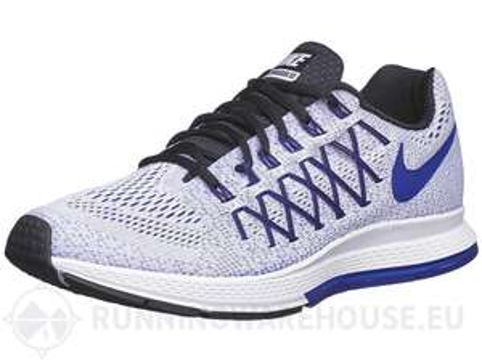 Chaussures Nike Zoom Pegasus 32 pour Homme - Blanc/Concorde + 2 barres énergétiques