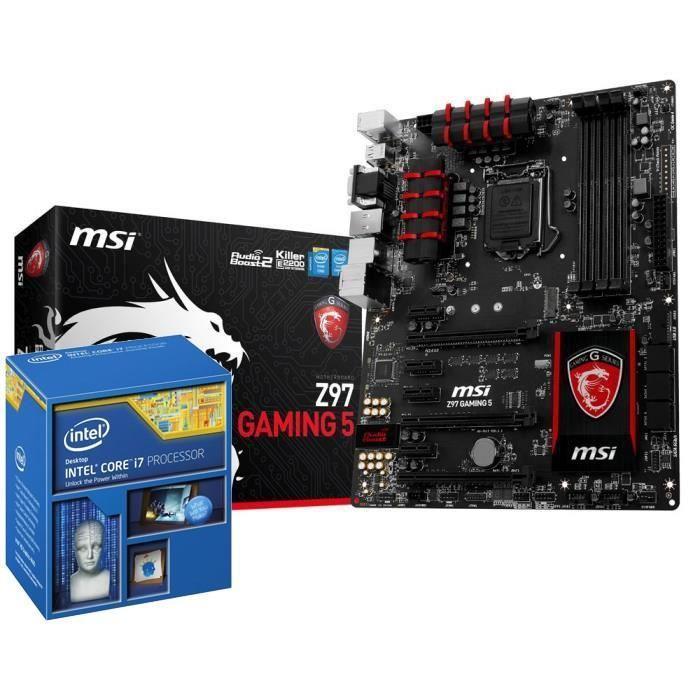 Kit Evo - Processeur Intel Core i7-4790K + Carte mère Gaming Z97 Gaming 5 (via ODR 55€)