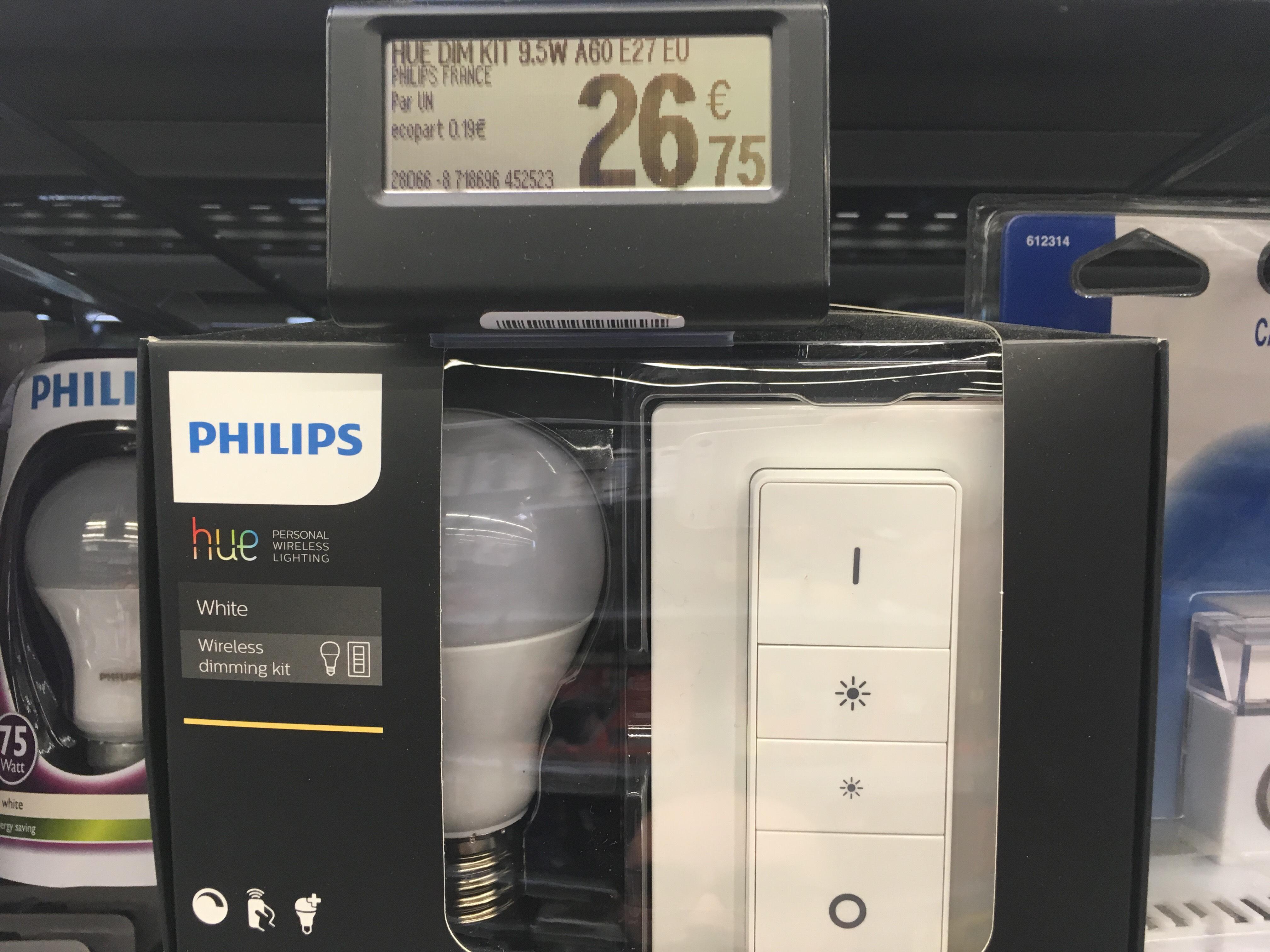 Kit d'ampoule LED connectée Philips Hue Wireless Dimming