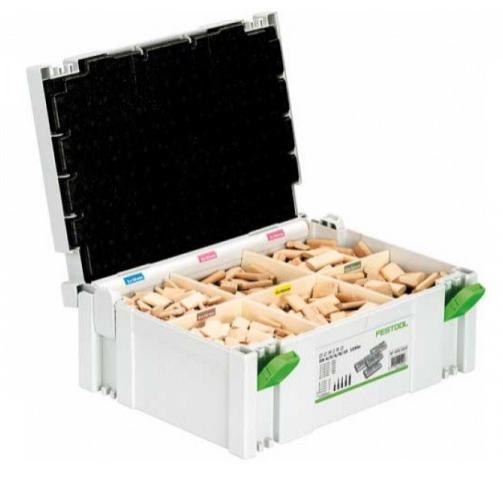 Assortiment Dominos Festool dans Systainer + jeu de 5 fraises pour DF 500