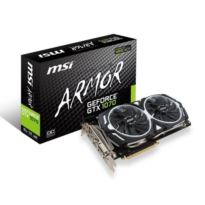 Carte graphique Nvidia Msi GeForce GTX 1070 ARMOR 8Go