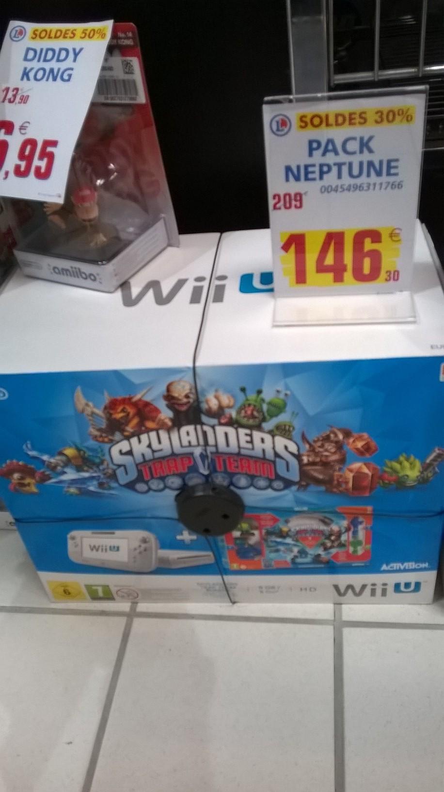 Pack Console Wii U Blanche 8 Go + Skylander Trap Team