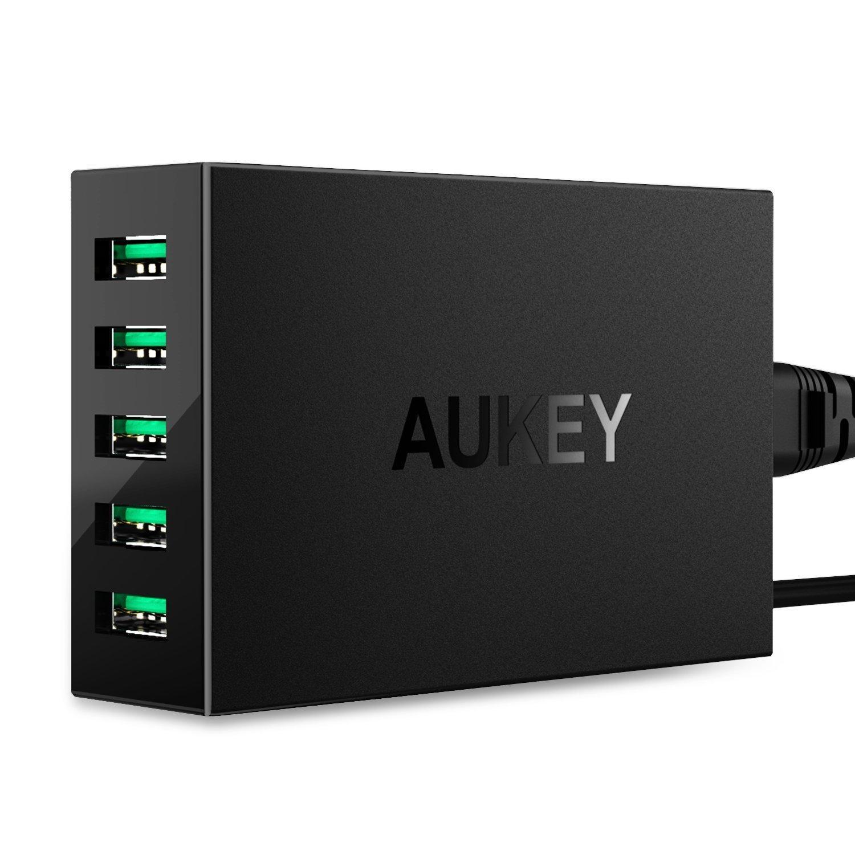 Chargeur Secteur Aukey - 5 Ports USB, 50W, 10A