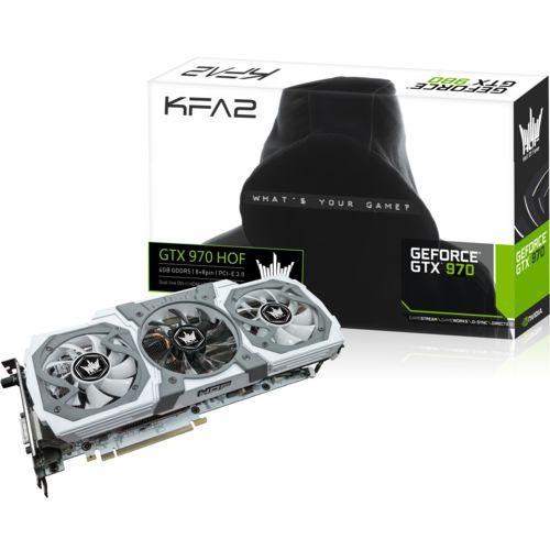 Carte graphique KFA2 GeForce GTX 970 HOF - 4 Go DDR5 V2 + 60€ en bon d'achat