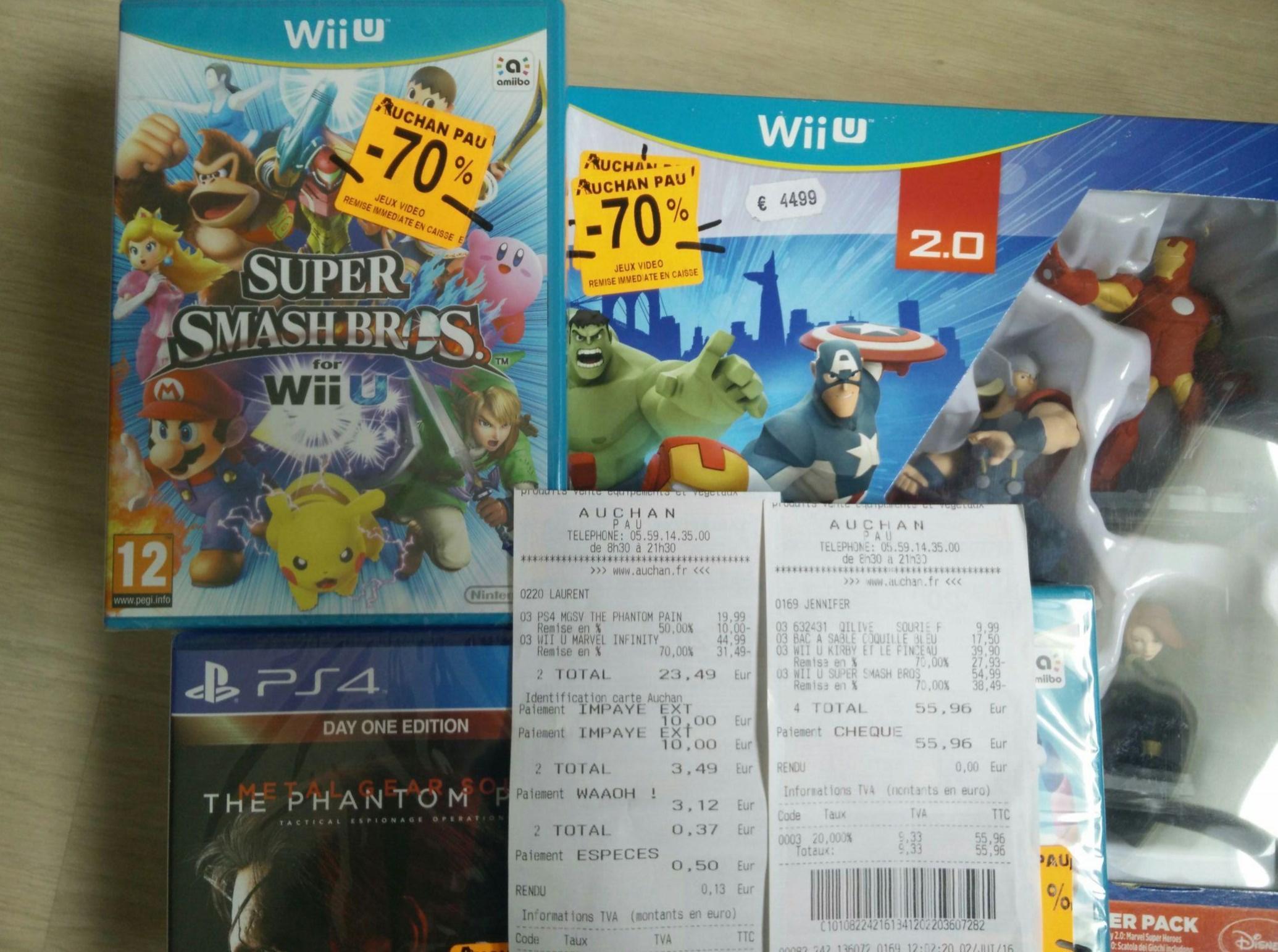 Sélection de jeux vidéo en promotion - Ex : Jeu Super smash Bros sur Wii U