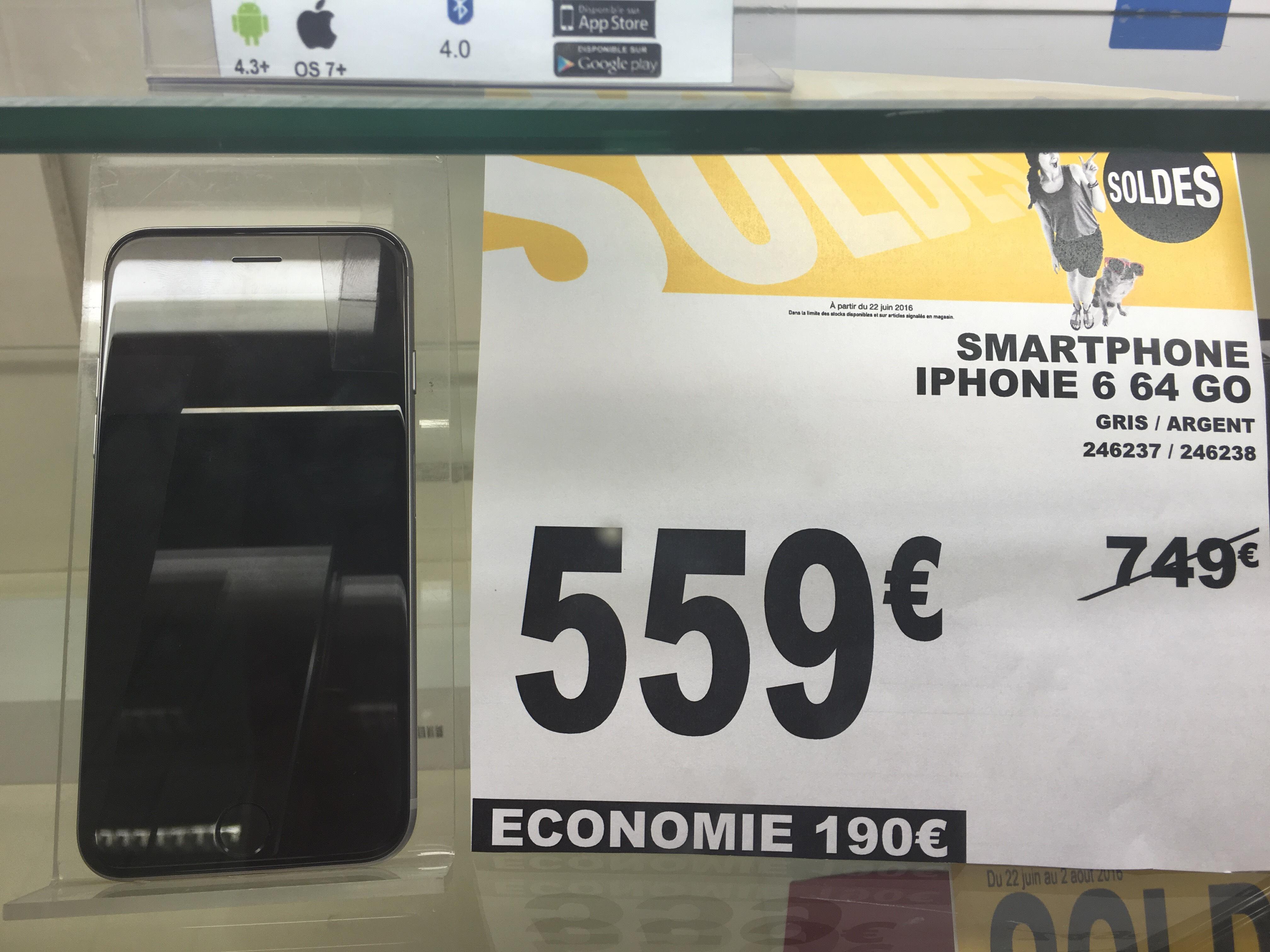 "Smartphone 4.7"" Apple iPhone 6 - 64 Go, Argent"