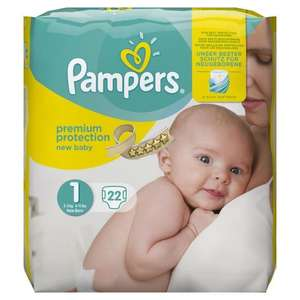 Pack Pampers BabyDry T1 (22 couches)