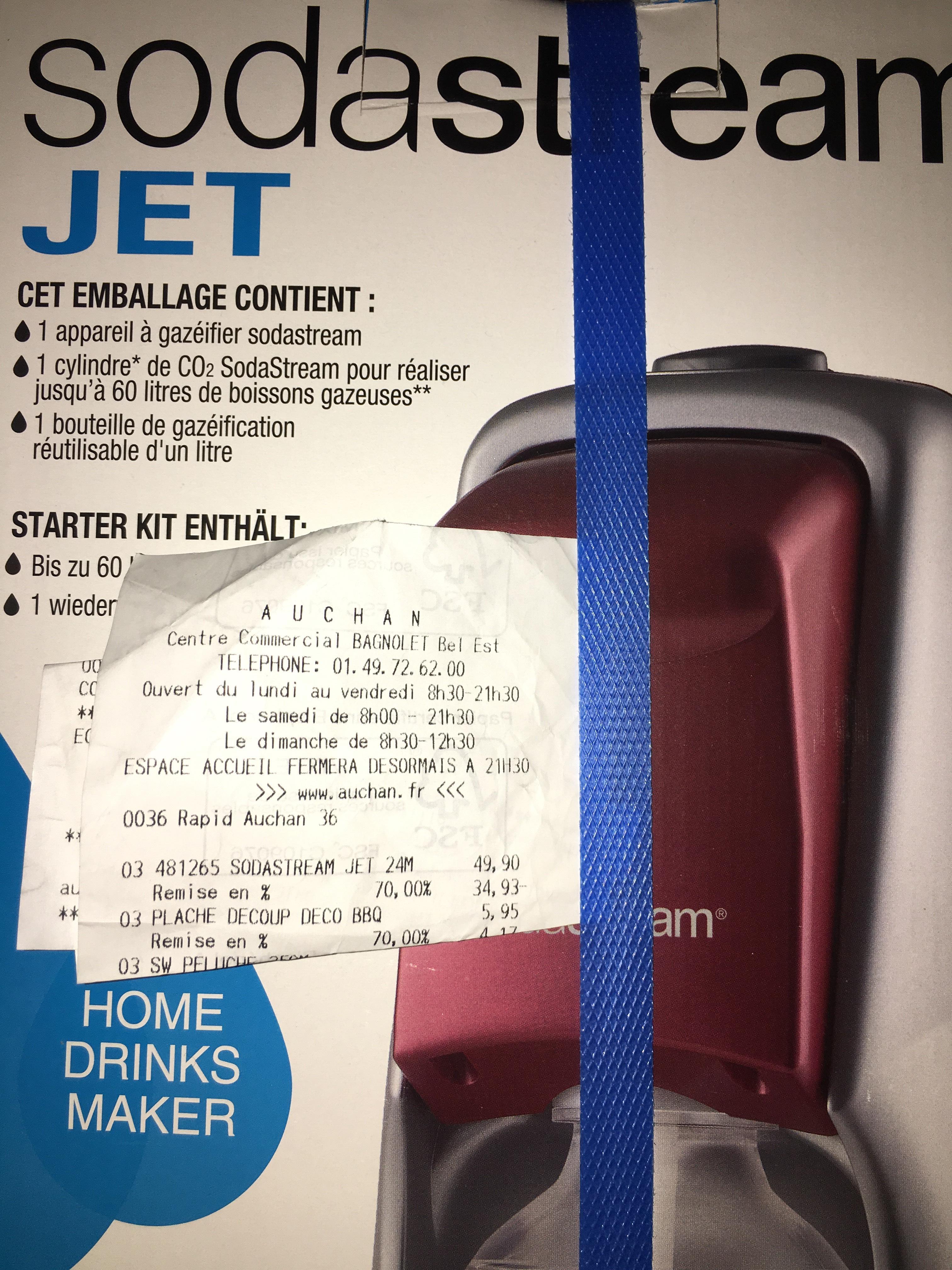-70% sur les machines à gazéifier Sodastream - Ex: Sodastream Jet