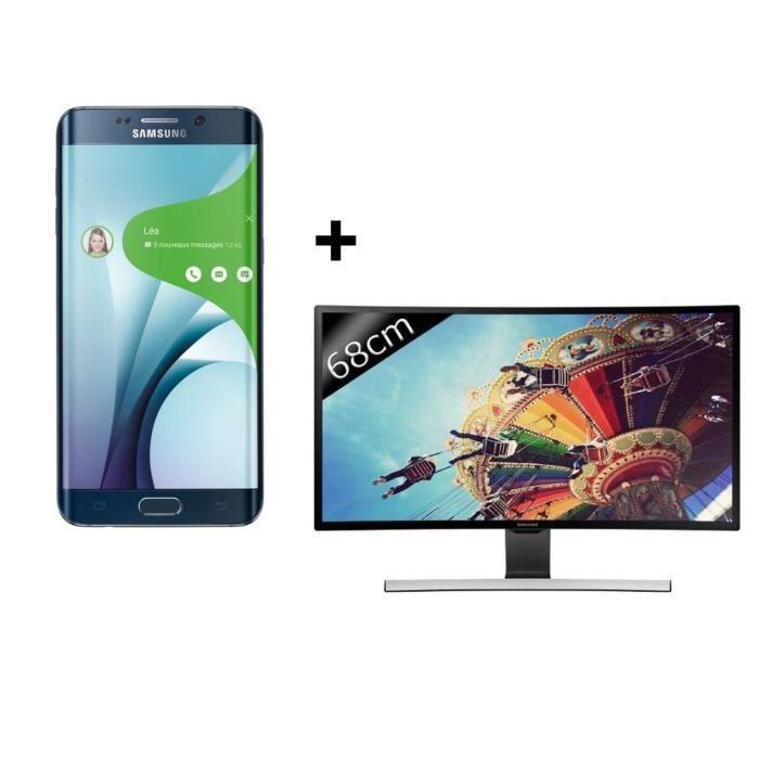 "Smartphone 5.7"" Samsung Galaxy S6 Edge Plus 32 Go + TV LED 27"" Samsung T27D590CX Curved"