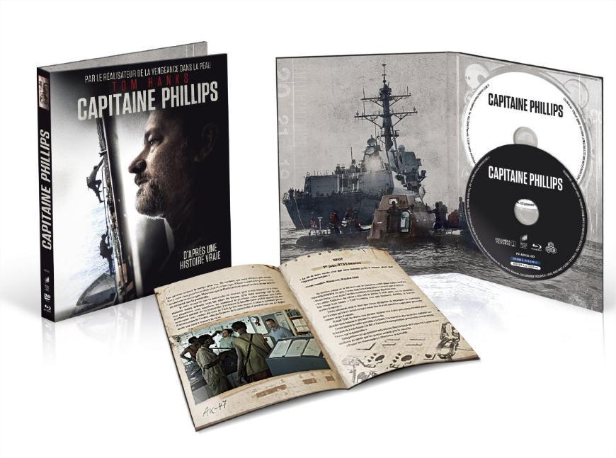 Coffret Blu-ray Capitaine Phillips - Edition limitée Digibook (avec livret)