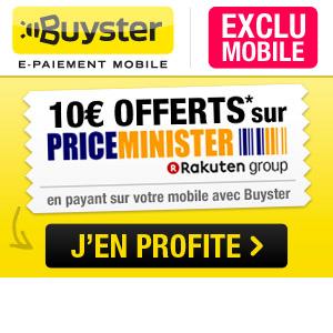 10€ offerts pour un premier paiement avec Buyster, dès 20€ d'achats