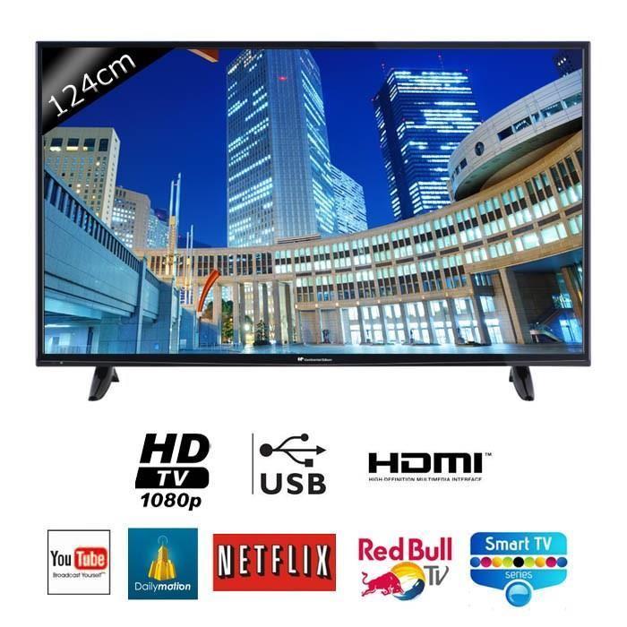 "TV49"" Continental Edison 49S0116B3  - Full HD, Smart TV, 123cm"