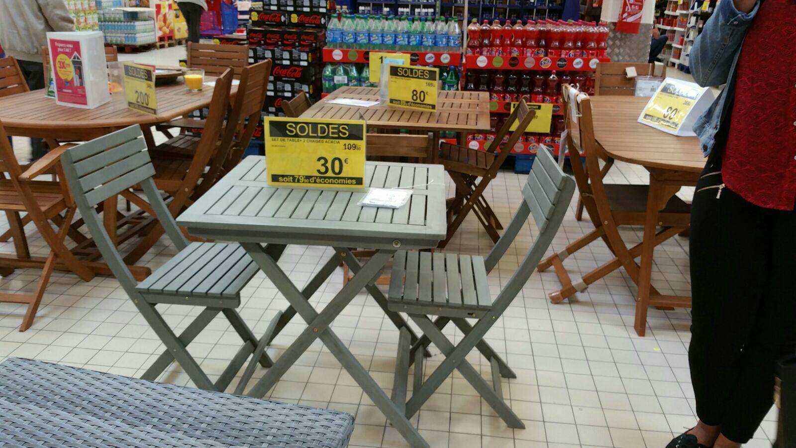 Sélection d'ensembles de jardin en promotion - Ex : table + 2 chaises