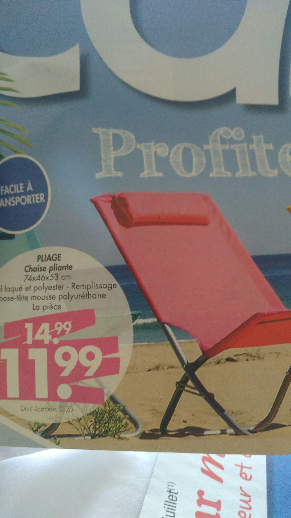 Chaise Pliante de Plage Casa - 74x46x53cm