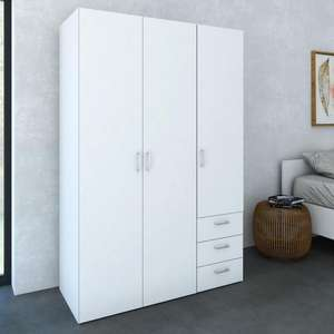 Armoire  Space 116 x 49x 175 cm blanche