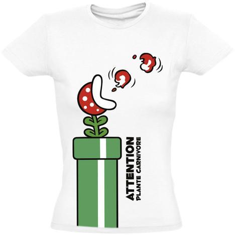Sélection de T-shirts en promotion - Ex : T-shirt Femme Mario GreenTube (taille S)